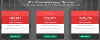 AzeHosting har en WordPress webdesign service