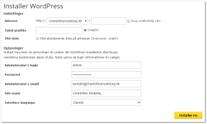 Lav en bog - Installering af WordPress