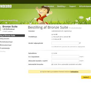 Tilføj vores Simply.com kunponkode under bestillingen