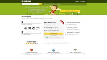 UnoEuros hjemmeside - Forside