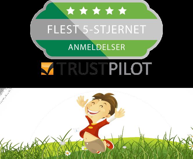UnoEuro - Flest fem-stjernet anmeldser på Trustpilot