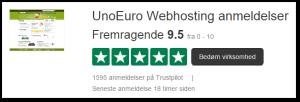 9,5 TrustPilot score