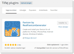 WordPress favicon - Trin 1